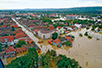 Center of Obrenovac under water (photo: The Army of Serbia)